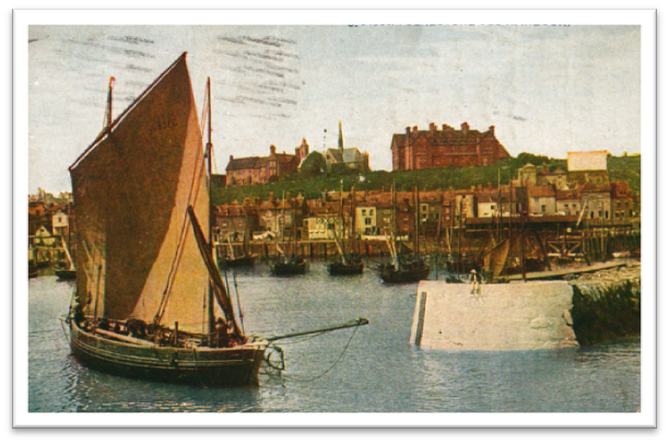 A Postcard with a sailboat